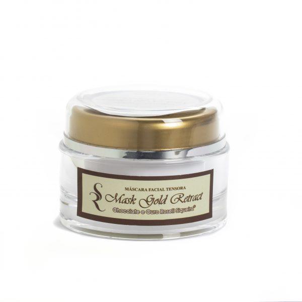 Mask Gold Retract - Promove lifting facial, retrai os poros ela é indicado para peles mistas a normais.